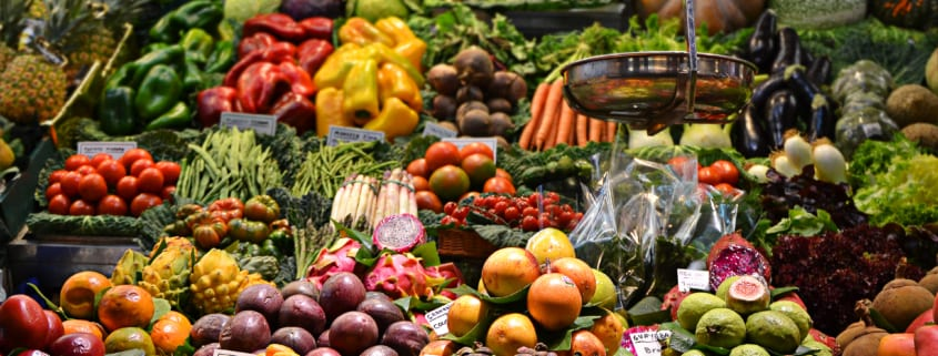 Bilde av matvarer. Hypotyreose og kost
